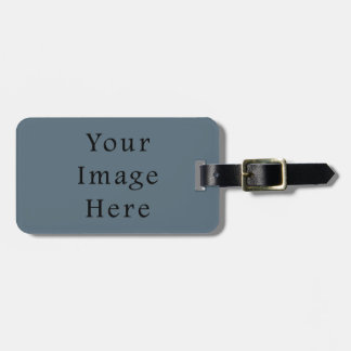 Confederate Dark Blue Color Trend Blank Template Bag Tag