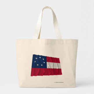 Confederate First National Flag, 7 Stars Canvas Bags