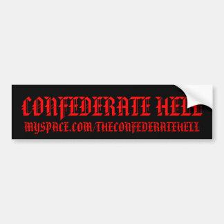 CONFEDERATE HELL BUMPER STICKERS