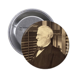 Confederate President Jefferson Davis by E. Wilson 6 Cm Round Badge