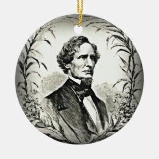 Confederate President Jefferson Davis Ceramic Ornament