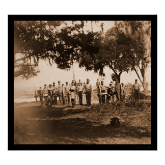 Confederate Soldiers & Guns in Charleston, SC 1863 Poster