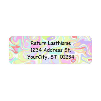 Confetti Avery Labels with Return Address Template