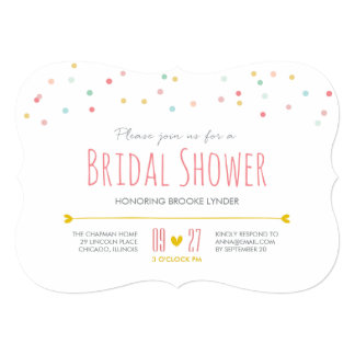 Confetti Bridal Shower Invitation