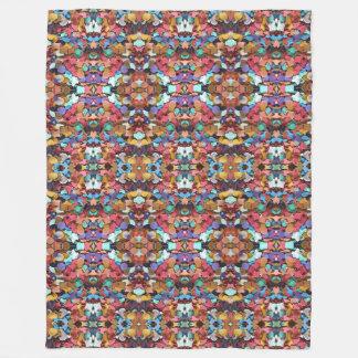 Confetti Carnival Party Colorful Paper Pattern Fleece Blanket