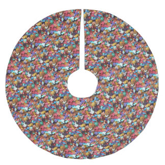 Confetti Carnival Party Colorful Paper Pieces Fun Brushed Polyester Tree Skirt