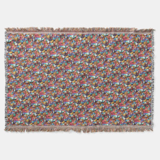 Confetti Carnival Party Colorful Paper Pieces Fun Throw Blanket