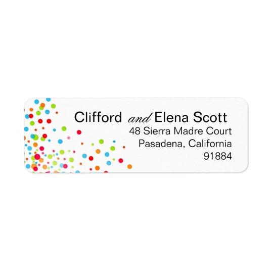 Confetti Celebration - multicolor Return Address Label