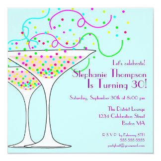 Confetti Cocktail Birthday Party Invitation