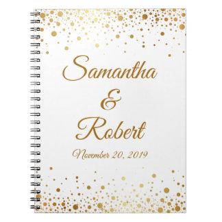 Confetti Dots Elegant Custom Wedding Guest Book