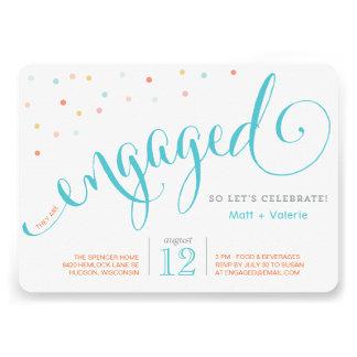 Confetti Engagement Party Invitation Custom Invites