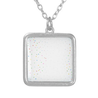 Confetti Falling Silver Plated Necklace