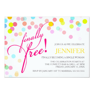 Confetti Finally Free | Divorce Party Card