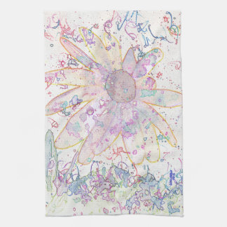 Confetti Flower Hand Towels