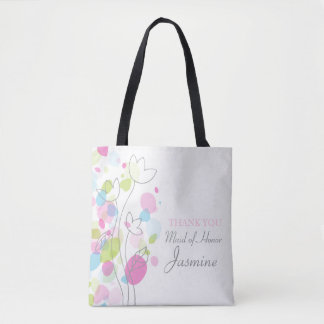 Confetti flower maid of honor bag