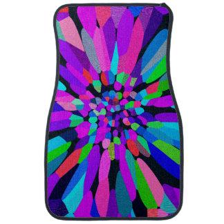 Confetti Flower Purple Floor Mat