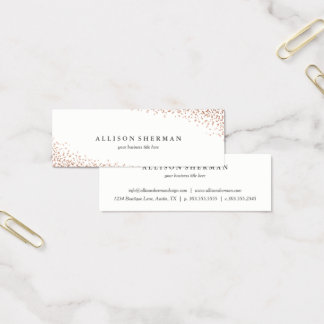 Confetti foil faux foil business cards