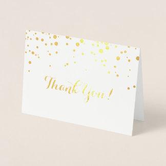 Confetti Foil Thank you Card