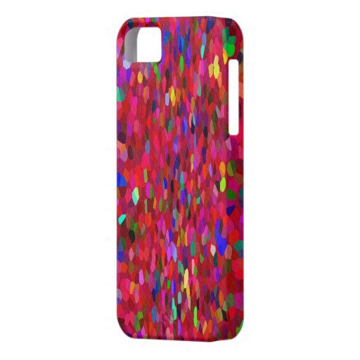 Confetti Fringe in Red iPhone 5/5S Cases