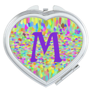 Confetti Garden Fringe Monogrammed Compact Mirror