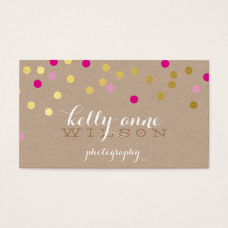 CONFETTI GLAMOROUS cute gold foil bold pink kraft