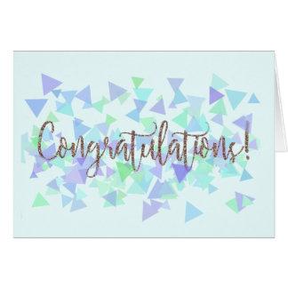 Confetti Glitter Handwritten Congratulations Card