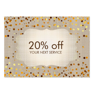 Confetti Gold Coupon Card Voucher Discount Gift Pack Of Chubby Business Cards