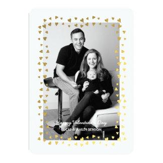 Confetti Heart Frame | Valentine's Day Photo Card 13 Cm X 18 Cm Invitation Card