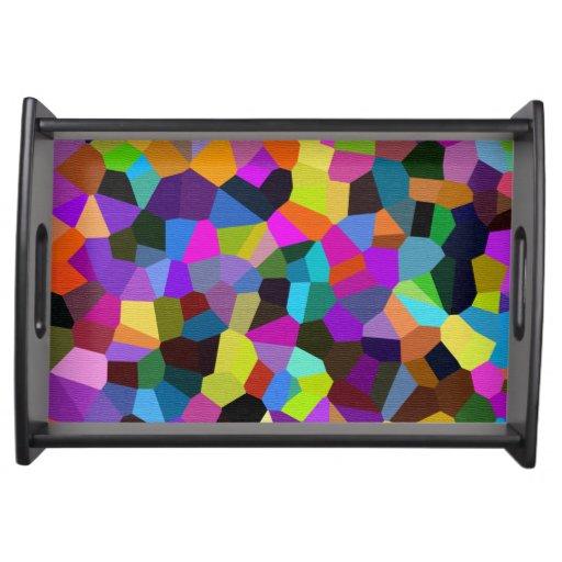Confetti in Jewel Tones Serving Platters