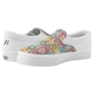 Confetti Low Top Zipz Shoes Printed Shoes