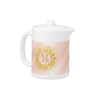 Confetti Monogram Rose Gold Foil ID445
