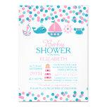 Confetti Nautical Girls Baby Shower Invitation