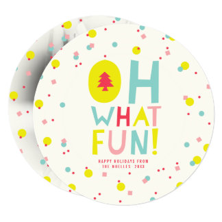 Confetti Oh What Fun Colourful Holiday Photo Card