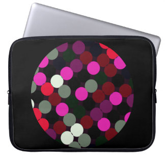 Confetti on confetti laptop sleeve