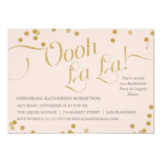 Confetti Oooh La La Party Blush Card