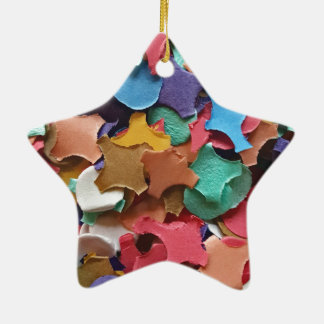 Confetti Party Carnival Colorful Paper Funny Ceramic Star Decoration
