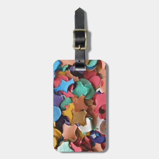 Confetti Party Carnival Colorful Paper Funny Luggage Tag