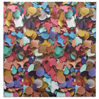 Confetti Party Carnival Colorful Paper Funny Napkin