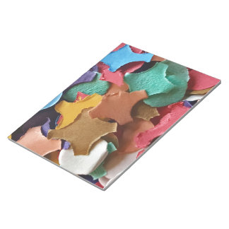 Confetti Party Carnival Colorful Paper Funny Notepad