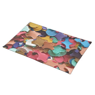 Confetti Party Carnival Colorful Paper Funny Placemat