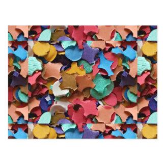 Confetti Party Carnival Colorful Paper Funny Postcard