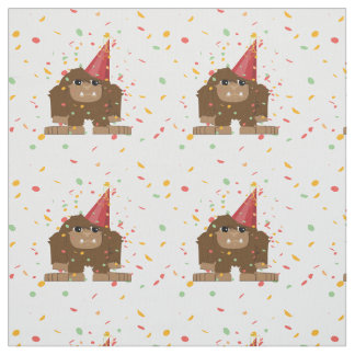 Confetti Party Sasquatch Bigfoot Fabric