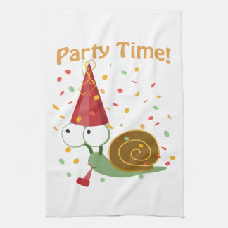 Confetti Party Time! Snail Hand Towel