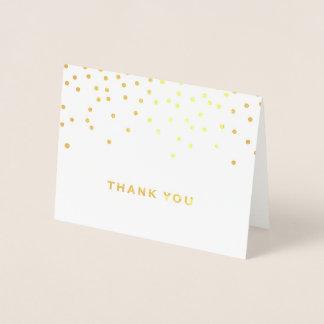 Confetti Polka Dot Gold Foil Thank You Card