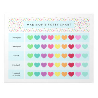 Confetti Potty Cart Notepad
