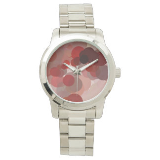Confetti Red Pink Beige Dots Pattern Watch