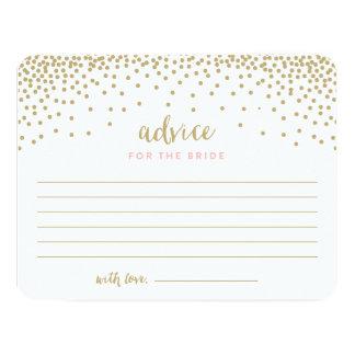 Confetti Shower | Bridal Shower Advice Cards