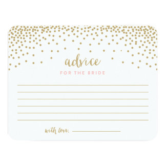 Confetti Shower | Bridal Shower Advice Cards 11 Cm X 14 Cm Invitation Card