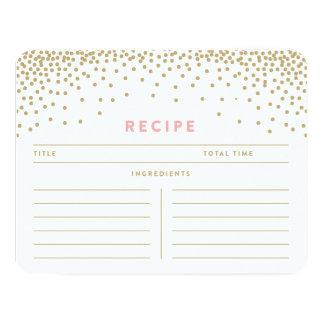 Confetti Shower | Recipe Cards 11 Cm X 14 Cm Invitation Card