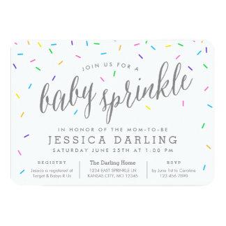 Confetti Sprinkles Baby Sprinkle Invitations